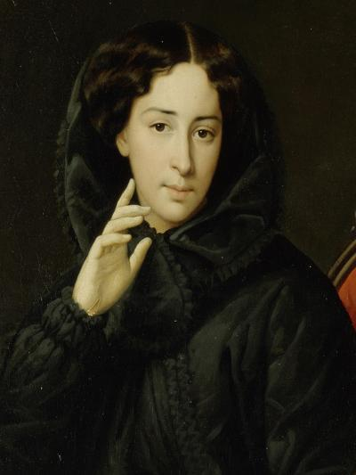 Portrait of the Actress of the Imperial Theatre Vera Samoylova, Mid of the 19th C--Giclee Print