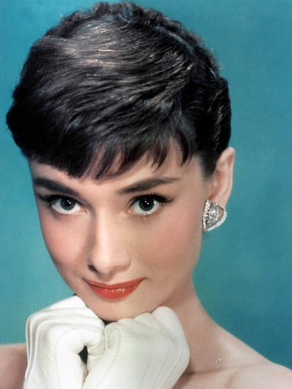 Portrait of the American Actress Audrey Hepburn, Photo for Promotion of Film Sabrina, 1954--Photo