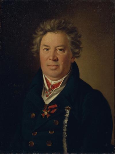 Portrait of the Architect Fyodor Kirillovich Sokolov (1752-182), 1819-Nikolai Ivanovich Argunov-Giclee Print