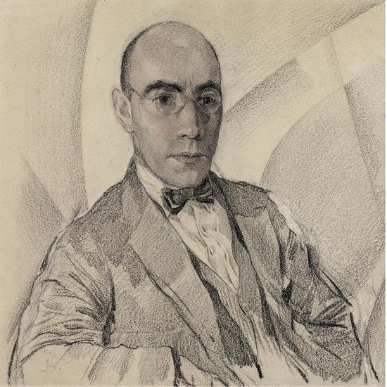 Portrait of the Artist and the Photographer Miron Sherling (1880-195)-Sergei Vasilievich Chekhonin-Giclee Print