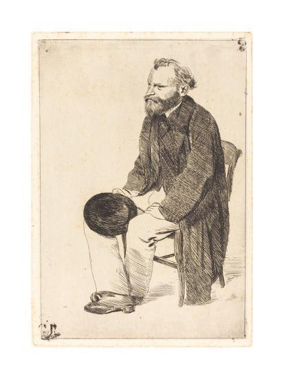 Portrait of the Artist Édouard Manet (1832-188)-Edgar Degas-Giclee Print