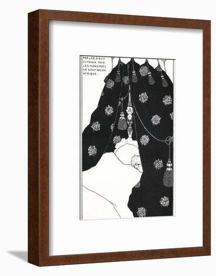 Portrait of the Artist in Bed-Aubrey Beardsley-Framed Giclee Print