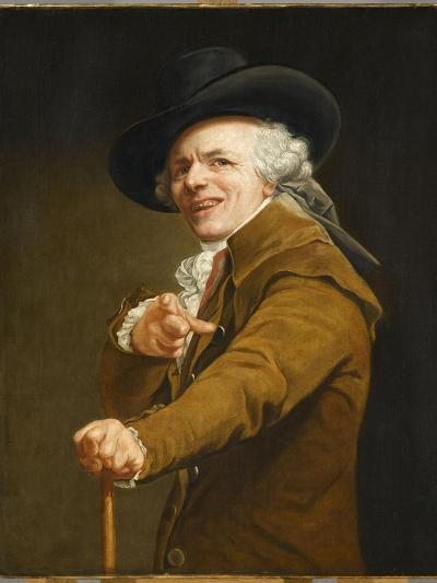 Portrait of the Artist in the Guise of a Mockingbird-Joseph Ducreux-Giclee Print