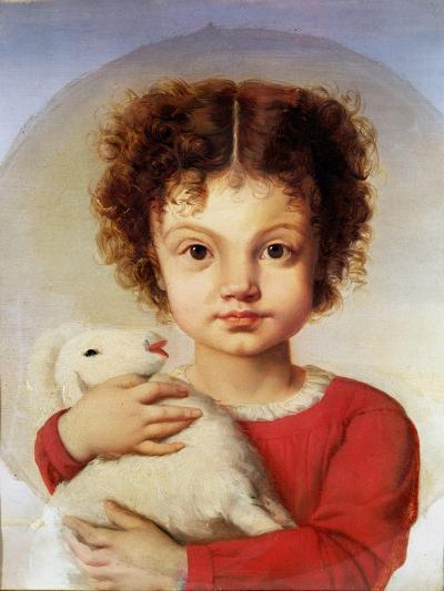 Portrait of the Artist's Daughter, Lina-Luigi Calamatta-Giclee Print