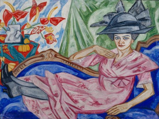 Portrait of the Artist's Sister, 1912-Olga Vladimirovna Rozanova-Giclee Print