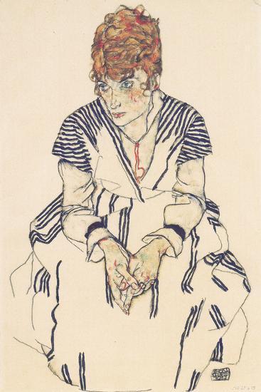 Portrait of the Artist's Sister, Adele Harms-Egon Schiele-Giclee Print