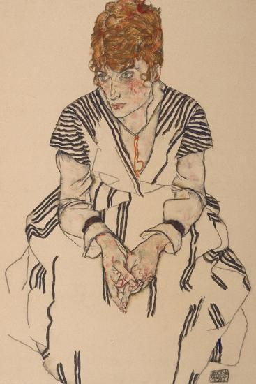 Portrait of the Artist's Sister-In-Law, Adele Harms, 1917-Egon Schiele-Giclee Print