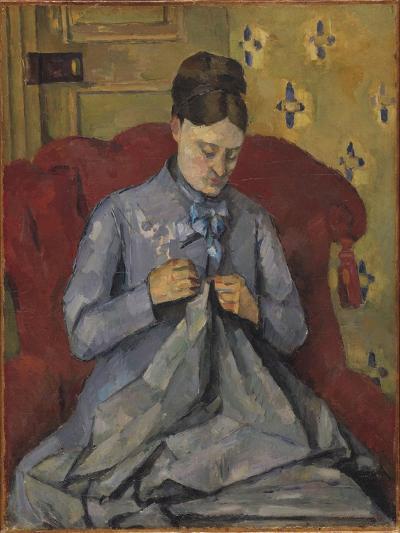 Portrait of the Artist's Wife, 1877-Paul Cezanne-Giclee Print