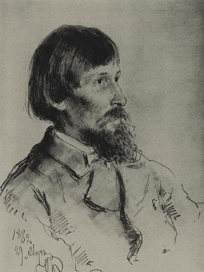 Portrait of the Artist Viktor Vasnetsov (1848-192)-Ilya Yefimovich Repin-Giclee Print