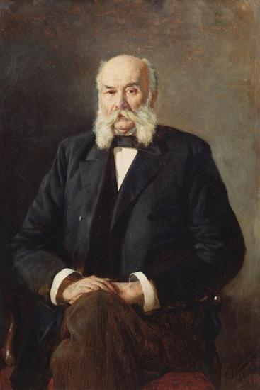 Portrait of the Author Ivan Goncharov (1812-189), 1888-Nikolai Alexandrovich Yaroshenko-Giclee Print