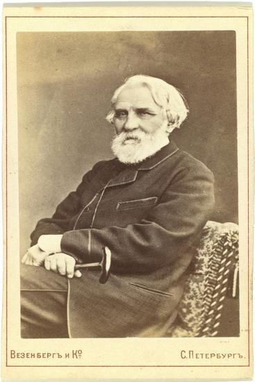 Portrait of the Author Ivan S. Turgenev (1818-188), Between 1880 and 1886--Giclee Print