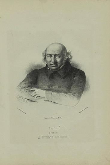 Portrait of the Author Prince Alexander Shakhovskoi (1777-184), 1860S-Pyotr Fyodorovich Borel-Giclee Print