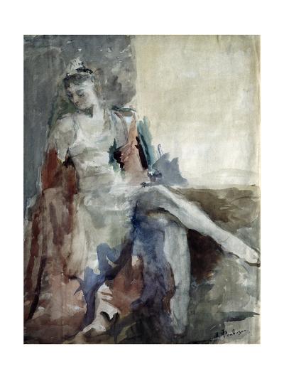 Portrait of the Ballet Dancer Irina Tichomirnova (1917-198), 1947-Artur Vladimirovich Fonvizin-Giclee Print