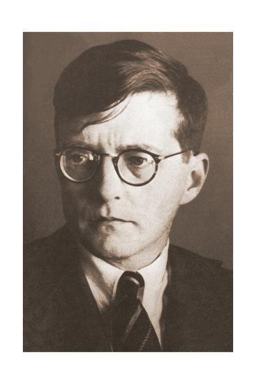 Portrait of the Composer Dmitri Shostakovich (1906-197), 1930S--Giclee Print