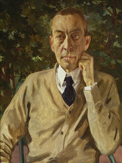 Portrait of the Composer Rachmaninow, C. 1925-Konstantin Somow-Giclee Print