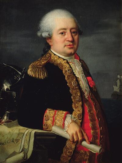 Portrait of the Comte De La Couldre De La Bretonniere-Robert Lefevre-Giclee Print