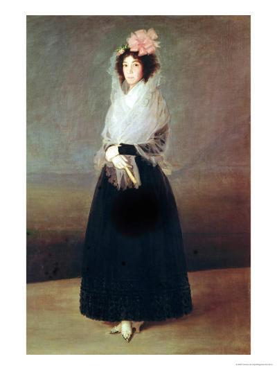 Portrait of the Countess of Carpio (1757-95) Marquesa De La Solana, circa 1793-Francisco de Goya-Giclee Print