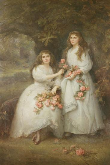 Portrait of the Daughters of the Duke of Manchester, 1894-Edward Hughes-Giclee Print