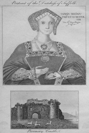 'Portrait of the Duchess of Suffolk, Pevensey Castle', 1805-Unknown-Giclee Print