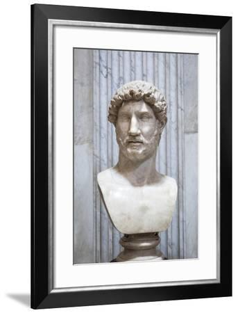 Portrait of the Emperor Hadrian, Second Century AD, Vatican Museum, Rome, Italy--Framed Giclee Print