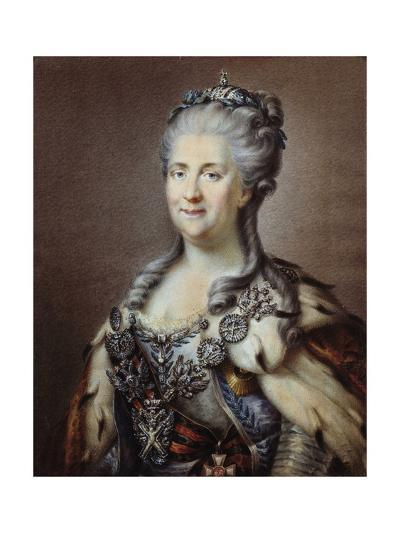 Portrait of the Empress of Russia Catherine II the Great--Giclee Print