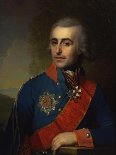 Portrait of the General-Aide-De-Camp Count Pyotr Tolstoy (1761-184)-Vladimir Lukich Borovikovsky-Giclee Print