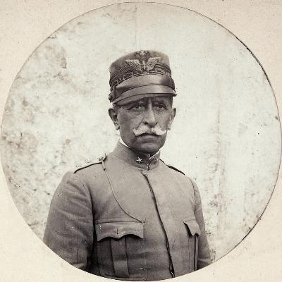Portrait of the General Bertotti, Comander of Italian Troops Sent to Albania During WWI--Photographic Print