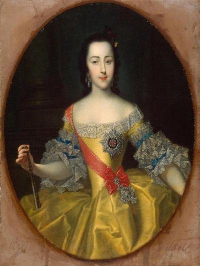 Portrait of the Grand Duchess Ekaterina Alekseyevna, (1729-179), C1745-Georg-Christoph Grooth-Giclee Print