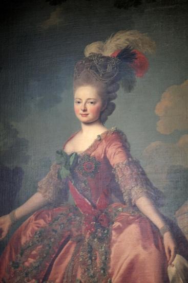 Portrait of the Grand Duchess Maria Feodorovna, 1777-Alexander Roslin-Giclee Print