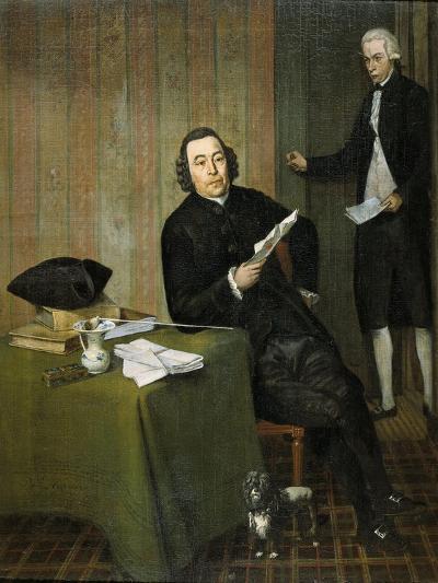 Portrait of the Haarlem Notary Wernerus Kahne with His Clerk Jan Bosch-Wybrand Hendriks-Art Print