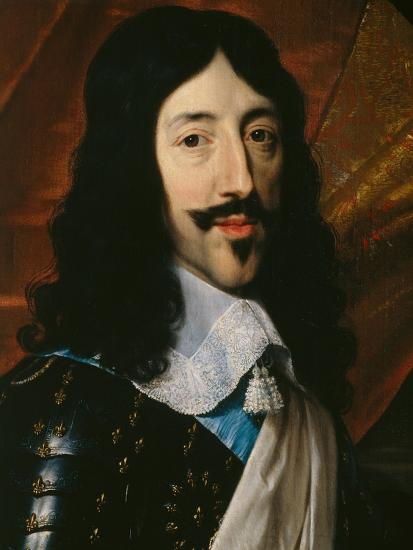 Portrait of the King Louis XIII-Philippe De Champaigne-Giclee Print