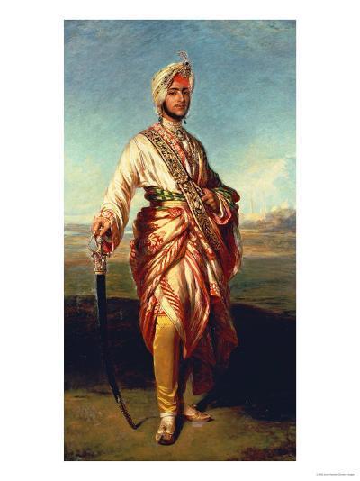 Portrait of the Maharajah Duleep Singh of Elveden, Standing Full Length, Wearing Maharajah's Robes-Janet Hawkins-Giclee Print