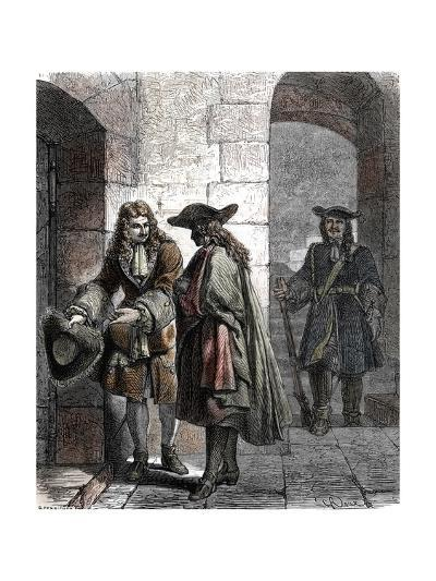 Portrait of the Man in the Iron Mask, 17Th Century--Giclee Print