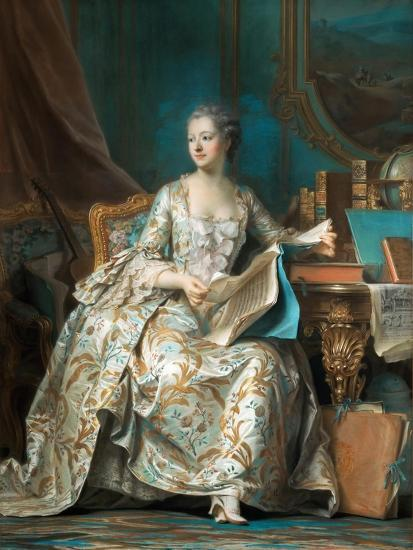 Portrait of the Marquise De Pompadour (1721-176)-Maurice Quentin de La Tour-Giclee Print