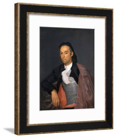 Portrait of the Matador Pedro Romero by Francisco Goya--Framed Giclee Print