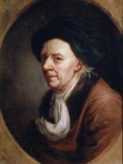 Portrait of the Mathematican Leonhard Euler, (1707-178), German Painting of 18th Century-Joseph Friedrich August Darbes-Giclee Print