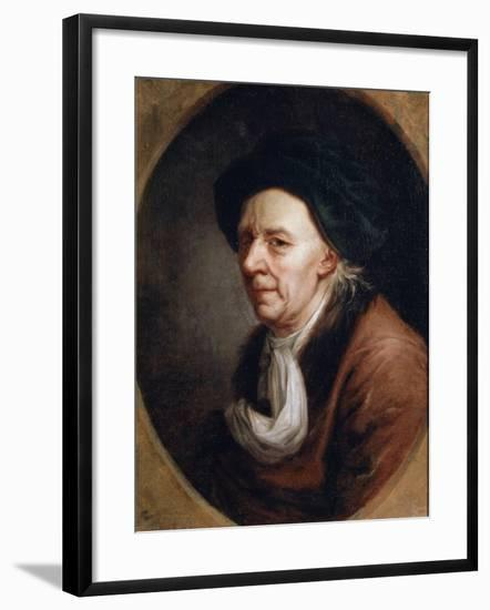 Portrait of the Mathematican Leonhard Euler, (1707-178), German Painting of 18th Century-Joseph Friedrich August Darbes-Framed Giclee Print
