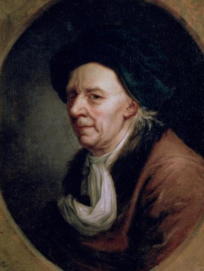 Portrait of the Mathematician Leonard Euler (1707-83)-Joseph Friedrich August Darbes-Giclee Print