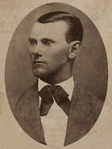 Portrait of the Outlaw Jesse James (1847-1882)