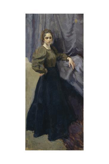 Portrait of the Painter Yelizaveta Martynova (1868-190), 1896-Osip Emmanuilovich Braz-Giclee Print