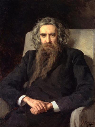 Portrait of the Philosopher Und Author Vladimir Solovyov (1853-1900)--Giclee Print