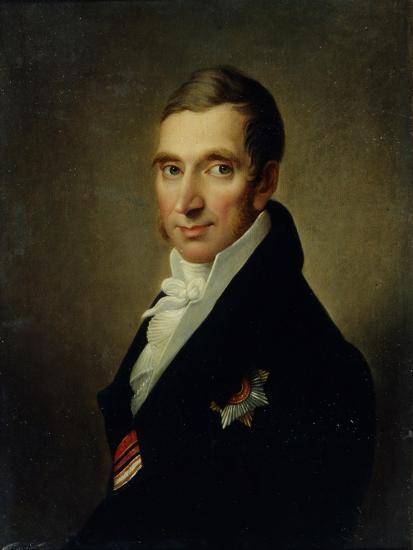 Portrait of the Physician Johann-Georg Von Ruehl (1768-184), 1823-Ivan Vasilyevich Luchaninov-Giclee Print