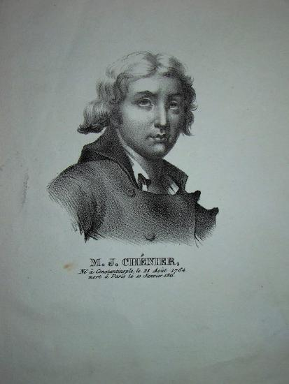 Portrait of the Poet and Dramatist Marie-Joseph Chénier (1764-181)--Giclee Print