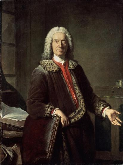 Portrait of the Poet and Tragedian Prosper Jolyot De Crébillon, 1746-Jacques-Andre-Joseph Aved-Giclee Print