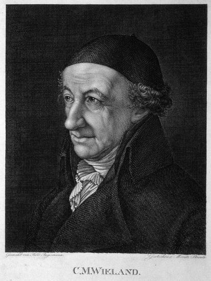 Portrait of the Poet and Writer Christoph Martin Wieland (1733-181), 19th Century-Moritz Steinla-Giclee Print