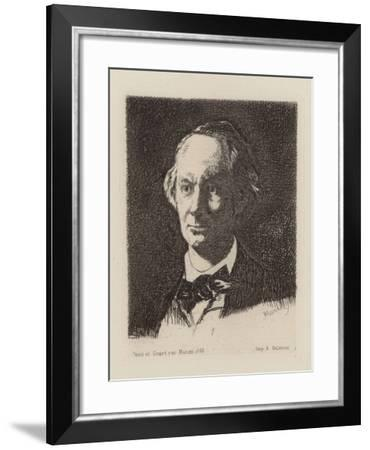 Portrait of the Poet Charles Baudelaire (1821-186)-Edouard Manet-Framed Giclee Print