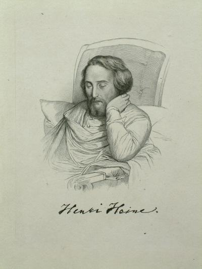 Portrait of the Poet Heinrich Heine (1797-185), 1851-Charles Gleyre-Giclee Print