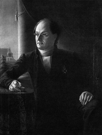 Portrait of the Poet Johan Ludvig Runeberg (1804-187)--Giclee Print