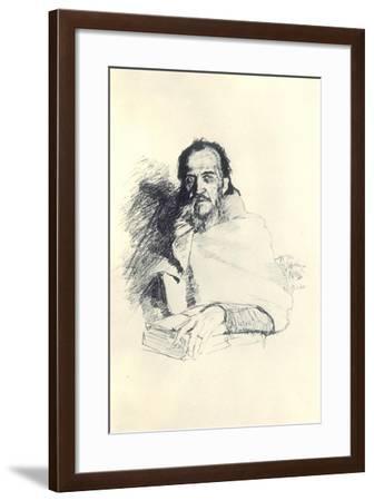 Portrait of the Poet Yakov Polonsky (1820-189), 1896-Ilya Yefimovich Repin-Framed Giclee Print