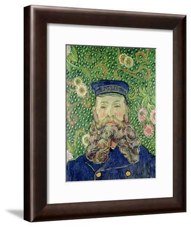 Portrait of the Postman Joseph Roulin, c.1889-Vincent van Gogh-Framed Giclee Print